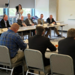 Gov. Parson's Flood Recovery Advisory Working Group held its inaugural meeting Aug. 27 at the Missouri Department of Natural Resources. (Courtesy of Missouri Corn) Article