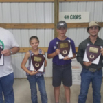 Left to right: Jacob Bell, Wild West District - Hugoton, Maddy Nichepor, Walnut Creek District - Ness City, Ryan Myers, Central Kansas District - Minneapolis, Truman Hooker, Sunflower District - Goodland. (Courtesy of Kansas Wheat)