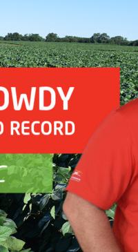 Randy Dowdy breaks soybean yield world record
