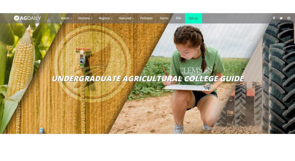 AGDAILY launches free agriculture college guide