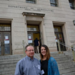 More than 30 South Dakota farmers and ranchers met with U.S. Department of Agriculture officials in D.C. Monday as part of the 2019 National Farmers Union Annual Fly-In. Wessington Springs farmers, Shane and Julie Fastnacht traveled to participate in the Fly-In because they want to provide a voice for family farmers and ranchers. Their first stop is meeting with officials at the U.S. Department of Agriculture. (Courtesy of SDFU)