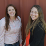 Tasha King, at left, and Joslyn Beard are instructors in the NCTA Animal Science Division. (Nutter/ NCTA photo)
