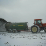Here we go again, another wet fall. Many manure applicators around the state are having flashbacks to last year and bracing to face those challenges once again. (Courtesy of University of Minnesota Extension)