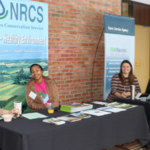 Michigan UDSA Staff Host On-Site Farm Bill Program and FSA Farm Number Registration for Underserved Farmers at the Annual Michigan Family Farms Conference in Kalamazoo, MI. (Courtesy of Michigan Food & Farming Systems)