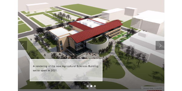 A rendering of the new Agricultural Sciences Building, set to open in 2021. (Courtesy of CSU)