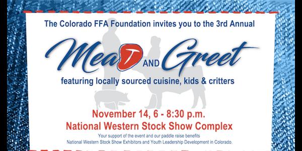 The Colorado FFA Foundation will host its 3rd Annual Meat and Greet on November 14th. (Courtesy of Colorado Farm Bureau)