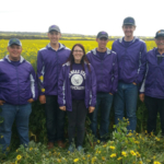 K-State Collegiate Crops Team at the Australian Universities Crops Competition (l to r): Wes Jennings, Nate Dick, Jayden Meyer, Madison Tunnell, Luke Ryan, Blake Kirchhoff, Dr. Kevin Donnelly – Coach . (Courtesy of K-State Research and Extension)