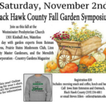 Iowa State University Extension & Outreach invites the public to register for the November 2nd fall symposium to be held at Westminster Presbyterian Church between 9:00 am – 2:00 pm. (Courtesy of ISU Extension and Outreach)