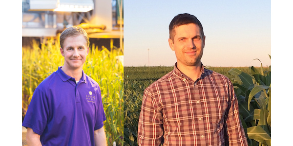 Two Kansas State University researchers — Jesse Poland (left) and Geoff Morris (right) — will be program leads for the new Feed the Future Innovation Lab for Crop Improvement with Cornell University and Clemson University. (Courtesy of K-State Research and Extension)