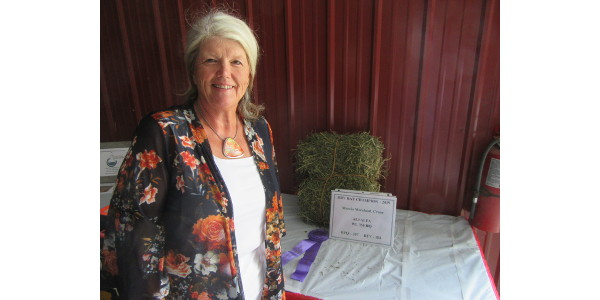 Marcia Moreland credits MU Extension specialists with helping her earn first place in the dry hay class at the 2019 Ozark Empire Fair Hay Show. Her win comes seven years after a last-place finish. (Photo courtesy of Eldon Cole)