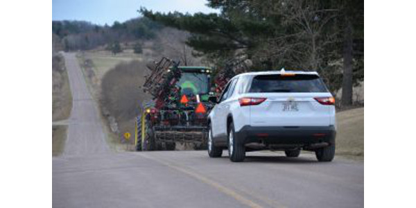 If you're heading out to the rural areas to pick pumpkins and apples or check out the fall colors, you're likely to encounter slow moving farm equipment on the road as fall harvest season is underway throughout the state. (Courtesy of UW-Extension)