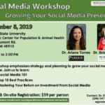 On Nov. 8, 2019, a Social Media Marketing Workshop led by W. Garrett Owen, Michigan State University Extension eastern Michigan greenhouse outreach specialist, Bridget Behe, MSU professor of horticultural marketing, and Ariana Torres, Purdue University assistant professor of horticulture and agricultural economics, will be held at the Michigan State University Diagnostic Center for Population & Animal Health, 4125 Beaumont Road, Lansing, MI 48910.