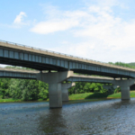 A steel girder bridge representative of the close to 80,000 Hussam Mahmoud's team studied in their analysis of how climate change is impacting bridge infrastructure. (Courtesy of CSU)
