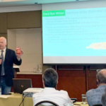 Kansas Wheat CEO Justin Gilpin recently presented quality data about hard red winter wheat at seminars in South America. (Courtesy of Kansas Wheat)