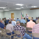 The Kentucky Cattlemen's Association hosted a town hall meeting Thursday night in Marion County to discuss volatility in the cattle markets. (Courtesy of Kansas Cattlemen's Association)