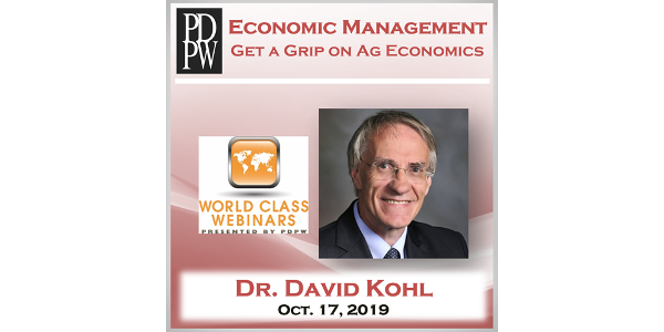 On Thurs., Oct. 17, Professional Dairy Producers® (PDPW) presents the next PDPW World Class Webinar – Economic Management, to assist dairy producers in continuing to move their business forward. (Courtesy of PDPW)
