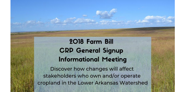 You are invited to a 2018 Farm Bill CRP General Signup Informational Meeting in Las Animas.