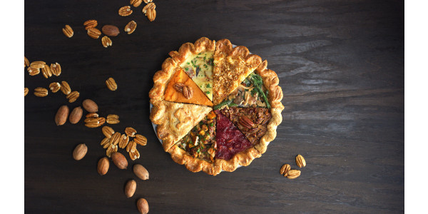 American Pecans debuts the Pecan ThanksEverything Pie, an epic all-in-one holiday feast featuring The Original Supernut as the star ingredient. (Courtesy of American Pecan Council)