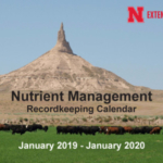 The Nutrient Management Record Keeping Calendar is a publication developed by Nebraska Extension through industry sponsorship to make recordkeeping easy and inexpensive for all in the livestock industry. (Courtesy of UNL)