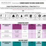 The Metro-Detroit Farmer's Market Decision Making Matrix was developed by MSU Extension Summer Intern Amelia Paliewicz under the direction of MSU Extension's Washtenaw County Local Foods Coordinator Jae Gerhart.