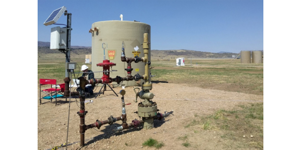 The METEC facility on the CSU Foothills Campus offers an area that models natural gas facilities for researchers to test methane sensing technologies. (Courtesy of CSU)