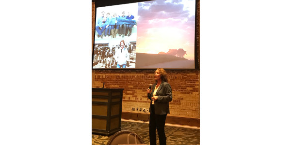 "Mary Kraft, fourth-generation dairy farmer from Fort Morgan, Colorado, fulfilled that role by attending the fifth-annual #DairyAmazing Symposium hosted by Dairy MAX. Her presentation, ""Healthy Cows, Healthy People, Healthy Planet,"" gave the audience a look into sustainable practices that occur at her family owned and operated dairy farms, Badger Creek Farm and Quail Ridge Dairy. (Courtesy of Dairy MAX)"