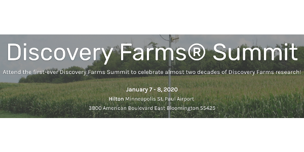 The first-ever Discovery Farms Summit will bring together participants, partners, sponsors and highlight the successes and experiences from the programs. (Screenshot from https://discovery-farms-summit.constantcontactsites.com/)