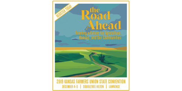 Kansas Farmers Union - the state's oldest farm organization - will hold its annual convention at the DoubleTree by Hilton, Lawrence, December 4-5, 2019. (screenshot)