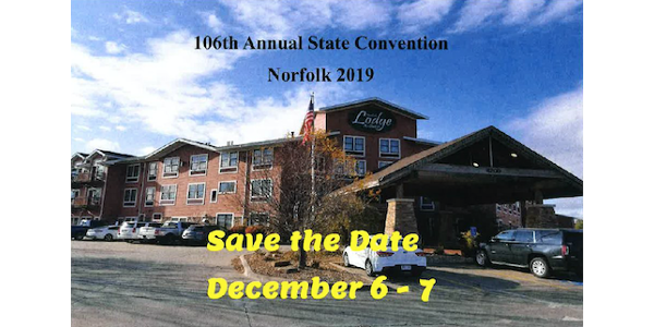 """Harnessing the Power of Organization to Serve Family Farm Agriculture Since 1913"" is the theme for the 106th annual Nebraska Farmers Union (NeFU) state convention. (Screenshot from flyer)"