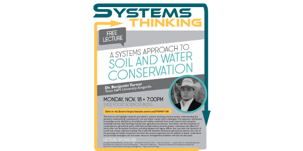 Iowa Learning Farms will host a special webinar on Monday, November 18 at 7:00 p.m. about using the systems approach to soil and water conservation with Dr. Benjamin Turner from Texas A&M University-Kingsville.
