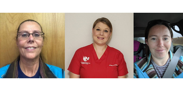 From left to right: Wendy McKain of Trenton, Caitlin Pittman of Gering and Samantha Rife of Stratton. (Courtesy of NeFB Foundation)