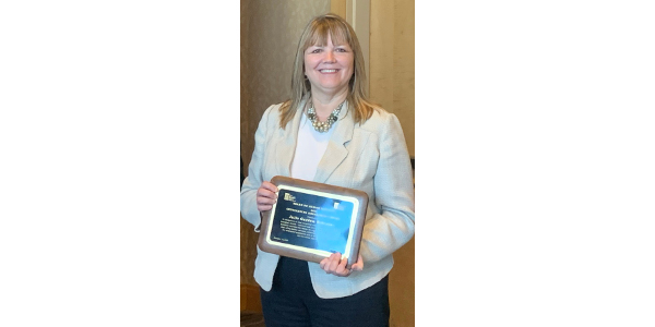 NDSU Extension food and nutrition specialist Julie Garden-Robinson receives the Outstanding Engagement Award from the Board on Human Sciences of the Association of Public and Land-grant Universities. (NDSU photo)