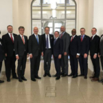 Gov. Ricketts and his trade delegation meet with the Ministry of Economic Affairs and Energy in Berlin. (Courtesy of Office of Governor Pete Ricketts)
