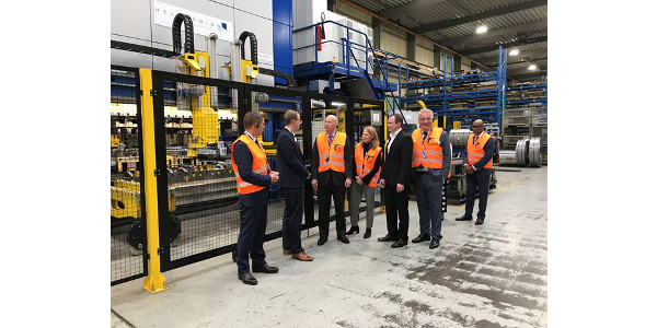 Gov. Ricketts visits Graepel, a metal products manufacturer located in Loeningen, Germany. (Courtesy of Office of Governor Pete Ricketts)