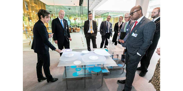 Gov. Ricketts and his trade delegation visit Bayer's headquarters in Leverkusen, Germany. (Courtesy of Office of Governor Pete Ricketts)