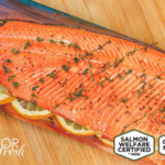 Amidst the introduction of genetically modified salmon to the U.S. market, Superior Fresh is the first to validate salmon production as Certified Non-GMO by A Greener World. (Courtesy of Superior Fresh)
