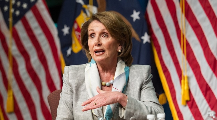 U.S. House Speaker Nancy Pelosi. (US Department of Labor, Public Domain)