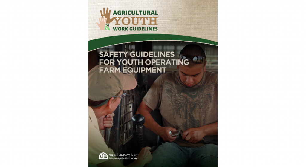 New resources help youth work more safely in agriculture
